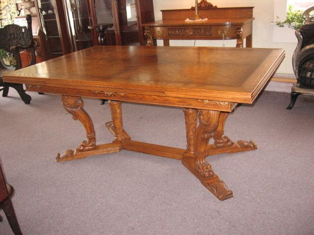 Oak Claw Foot Refractory Table Made By Rom Weber Circa 1920s 30s Furniture Makeover Clawfoot Oak