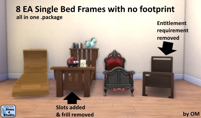 the sims 4 orangemittens ea single bed frames buy mode new objects room frame