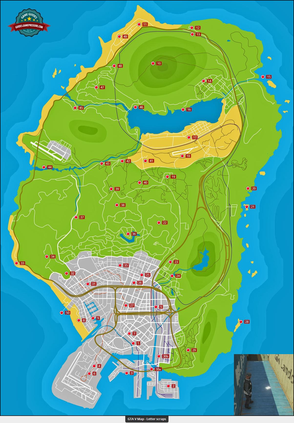 GTA V Letter Scraps Map Grand theft auto