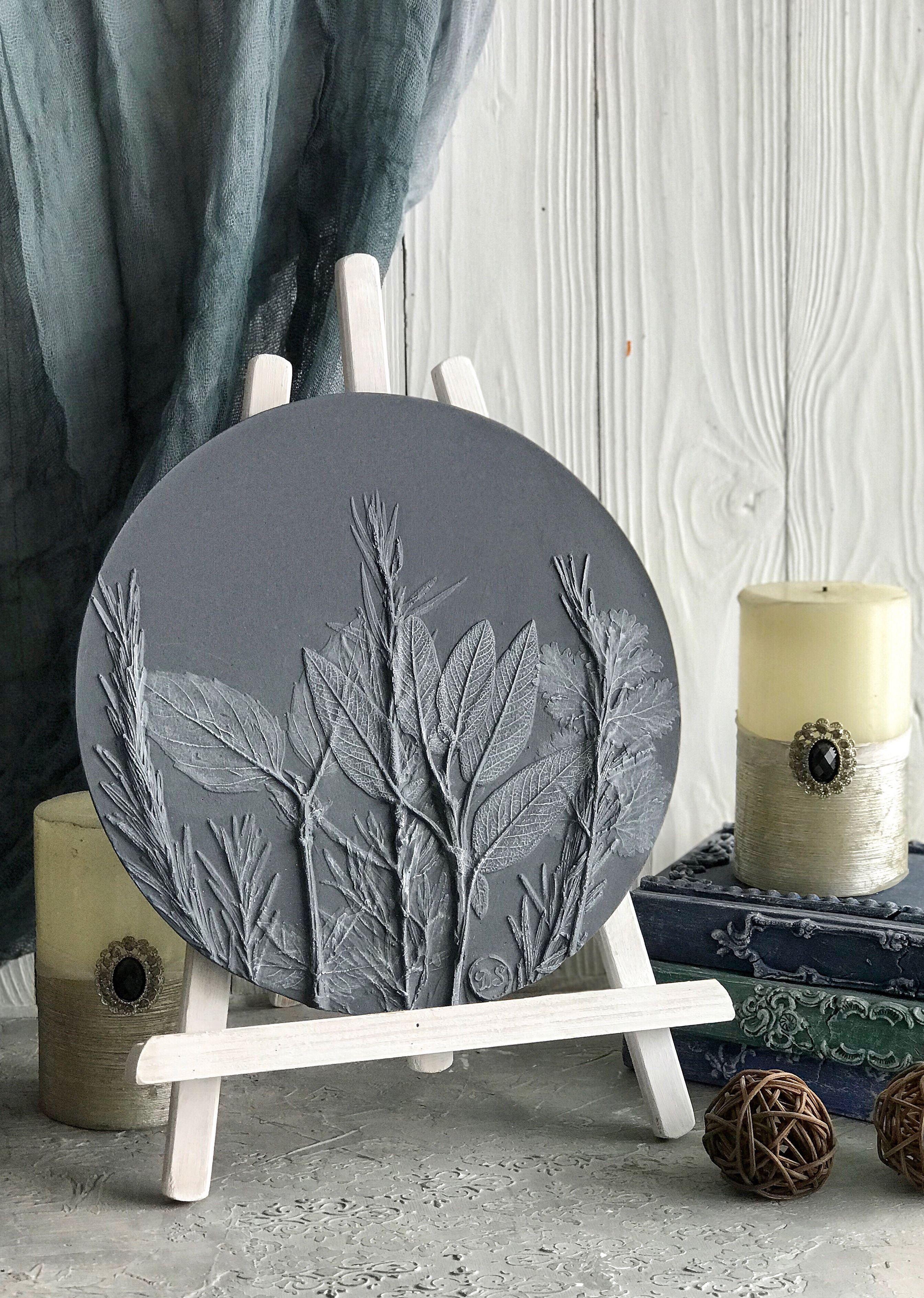 Grey Decorative Wall Plate For Farmhouse Decor Of Kitchen