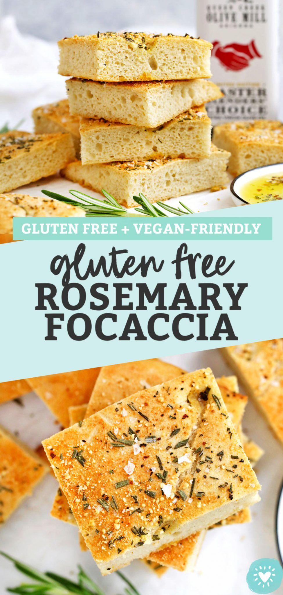 Gluten Free Focaccia With Rosemary Vegan Friendly Recipe In 2020 Gluten Free Focaccia Focaccia Food