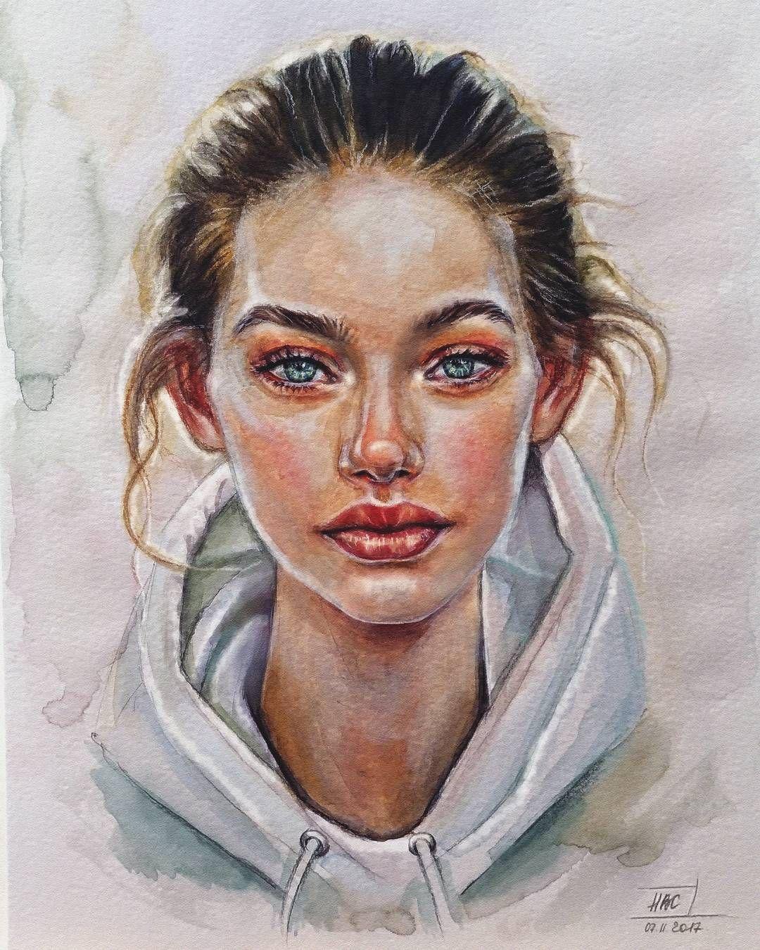 Pin By Gabi Allysse On Art Portrait Art Watercolor Portrait