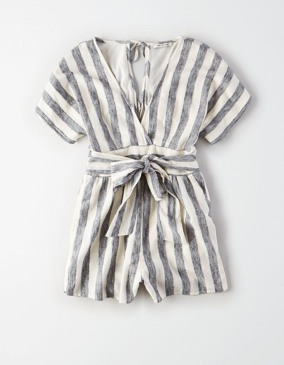3379c89bc48 AE Striped Kimono Romper