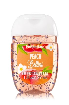 Peach Bellini Pocketbac Sanitizing Hand Gel Bath Body Works