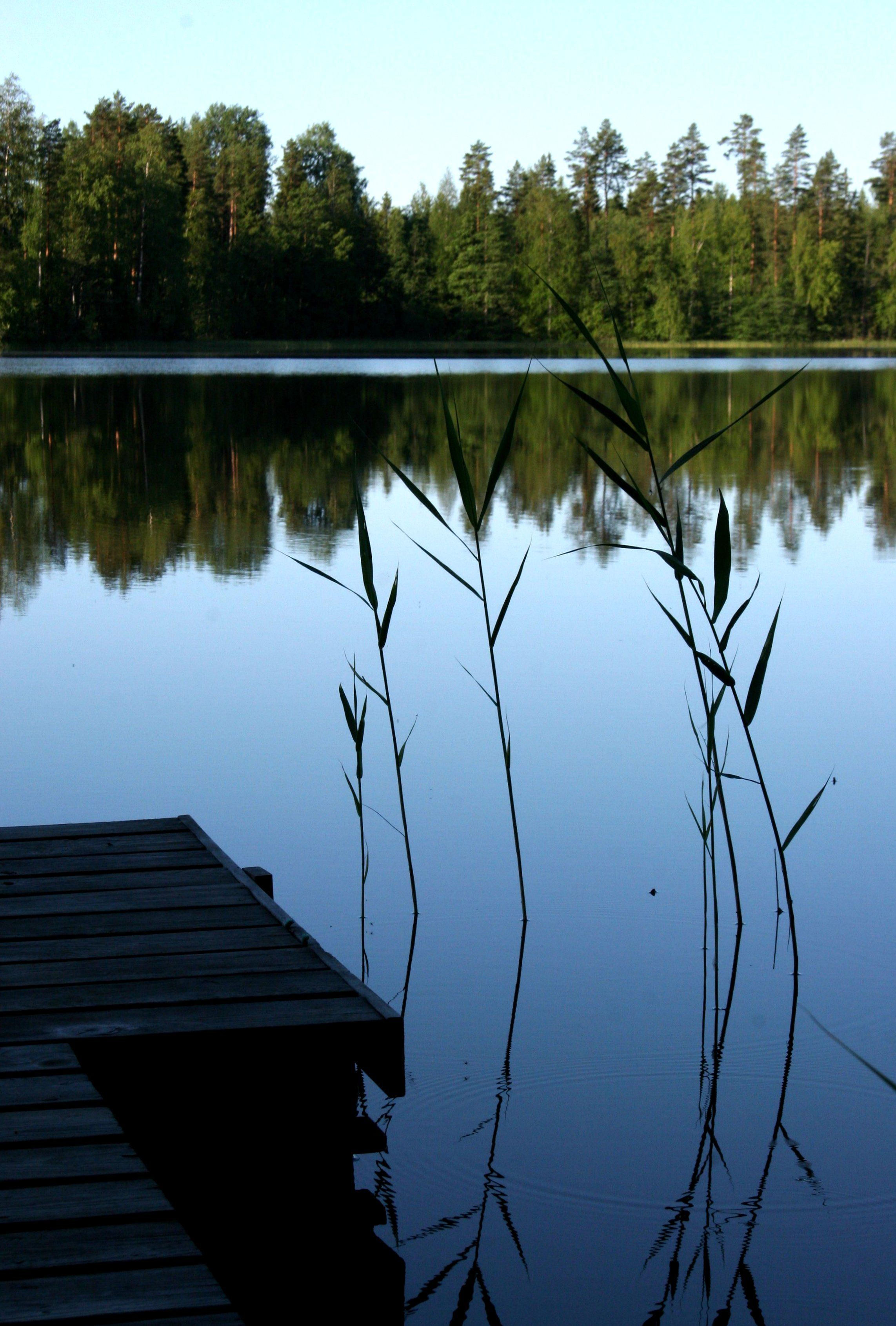 A summer cottage in a little lake, Kuhmoinen, Finland...