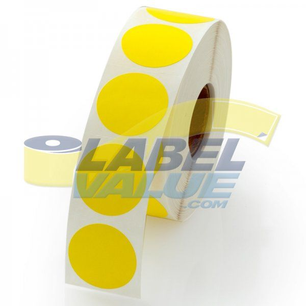 Yellow circle stickers for day 1 of creation