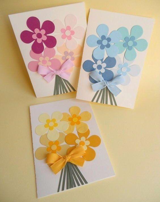 Днем, открытки своими руками из бумаги ко дню матери