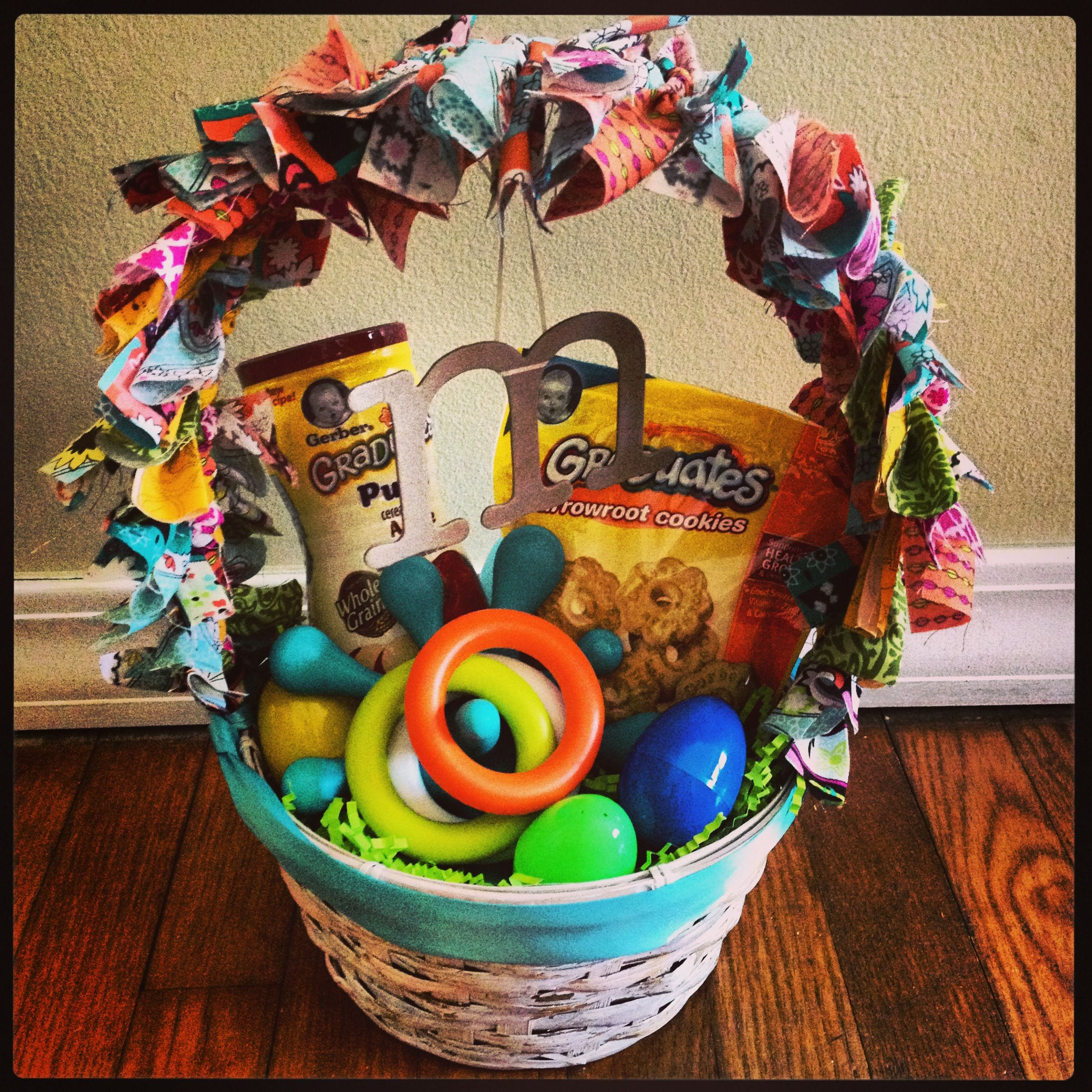 Babys first easter basket holidays pinterest easter baskets babys first easter basket negle