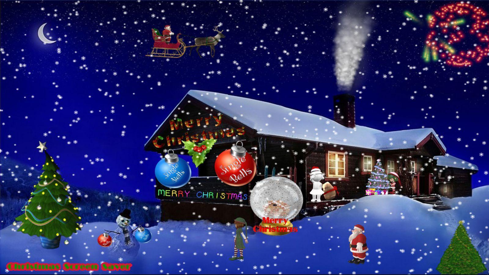 Christmas Screen Saver Www Macnpcsoftware Com Winter Wallpaper Desktop 3d Animation Wallpaper Winter Wallpaper