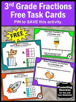 image about Printable Task Cards identified as Free of charge Portion Endeavor Playing cards, 3rd Quality Math Critique Game titles Free of charge