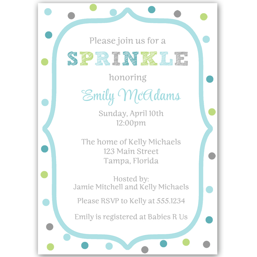 Sprinkled Dots Baby Sprinkle Invitation | Baby sprinkle, Sprinkles ...