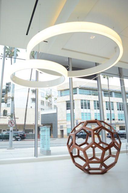 Beverly Hills East West Bank Lighting Design East West Ceiling Lights