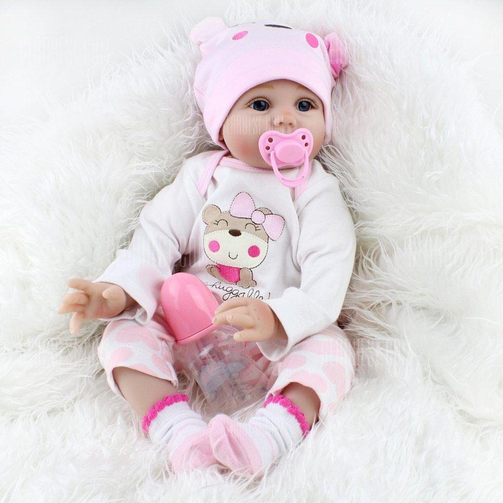US 22/'/' LifeLike Lovely Reborn Baby Doll Silicone Vinyl Dolls Toddler X/'mas Gift