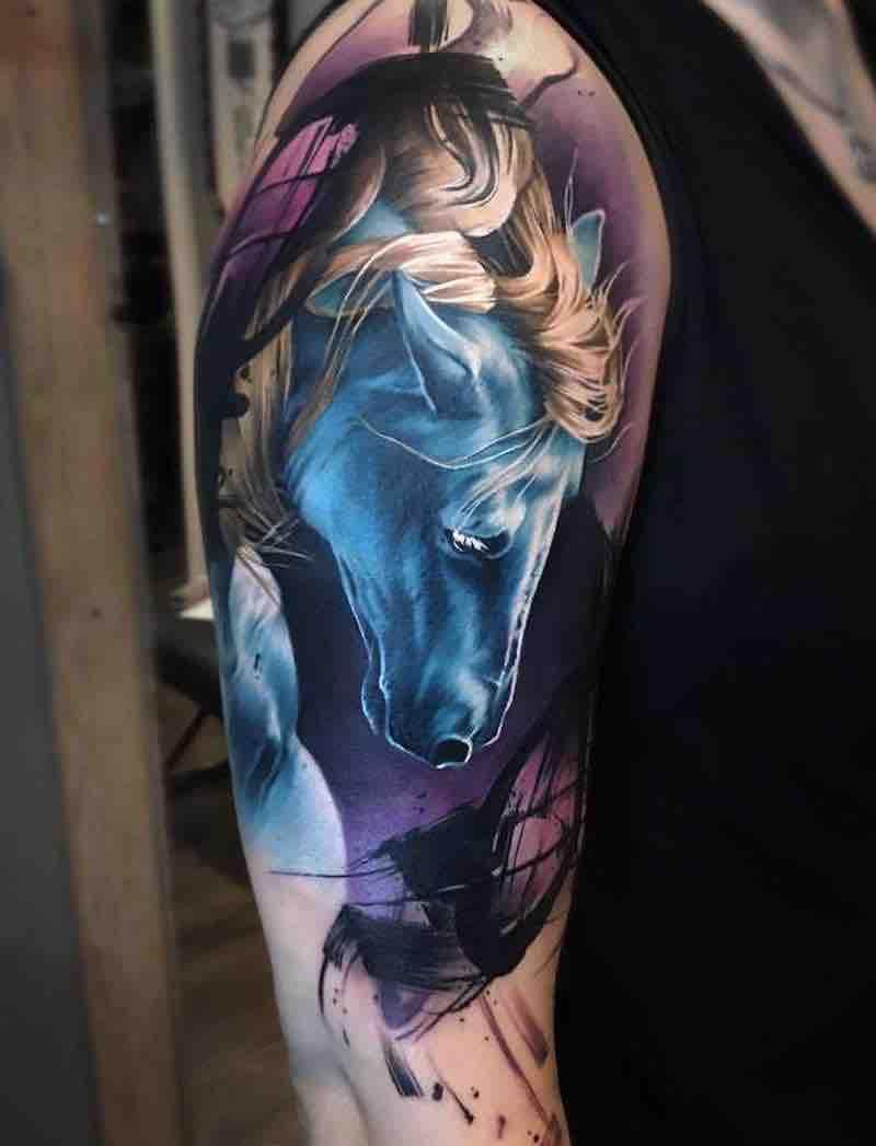 25 Of The Best Horse Tattoos Horse Tattoo Best Sleeve Tattoos Unicorn Tattoos