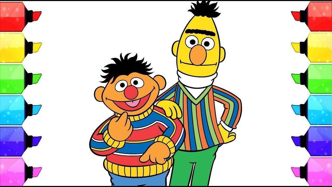 13++ Sesame street coloring pages ernie ideas