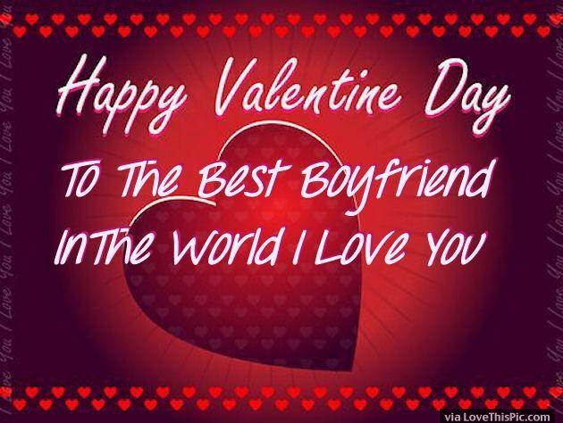 Happy Valentines Day To My Boyfriend Image Quote Valentines Day Valentineu0027s  Day Valentines Day Quotes Happy