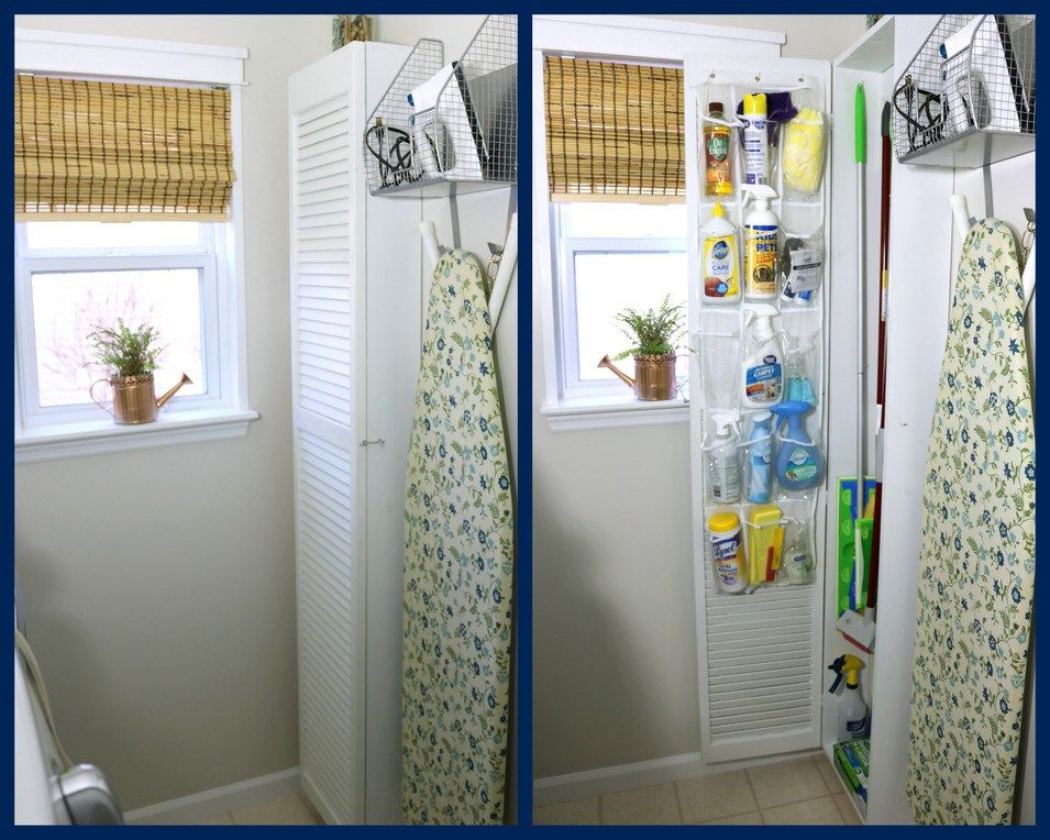 Diy Mini Cleaning Supply Closet Laundry In Bathroom Cleaning