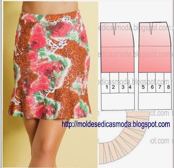 Ideas para el hogar: Colección de faldas y blusas en costura fácil incluye moldes gratis