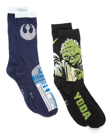 Star Wars Droids & Yoda Crew Sock - Set of Two