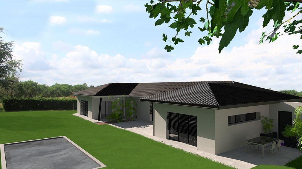 maison contemporaine en c avec tuiles noires acheter pinterest maison plan maison et. Black Bedroom Furniture Sets. Home Design Ideas