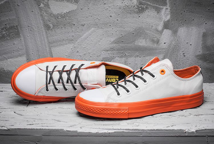 f8b74e1cc4d5a6 Converse Chuck Taylor All Star II Shield White Orange Low Top Shoes   converse  shoes