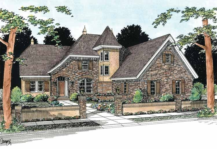 French Country House Plan With 2587 Square Feet And 4 Bedrooms From Dream Home Source House Plan French Country House French Country House Plans House Plans