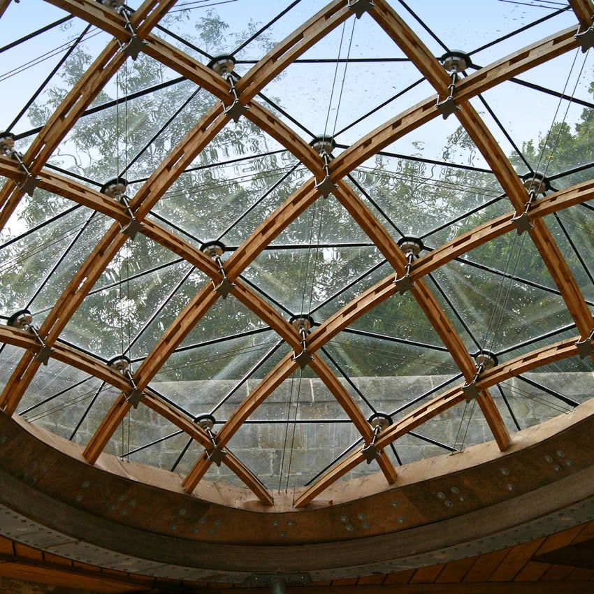 Timber Glass Roof A Frameless Glass Roof Timber As A