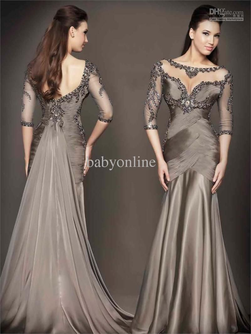 17 Best images about Grey Dresses on Pinterest | Gowns, Mother of ...
