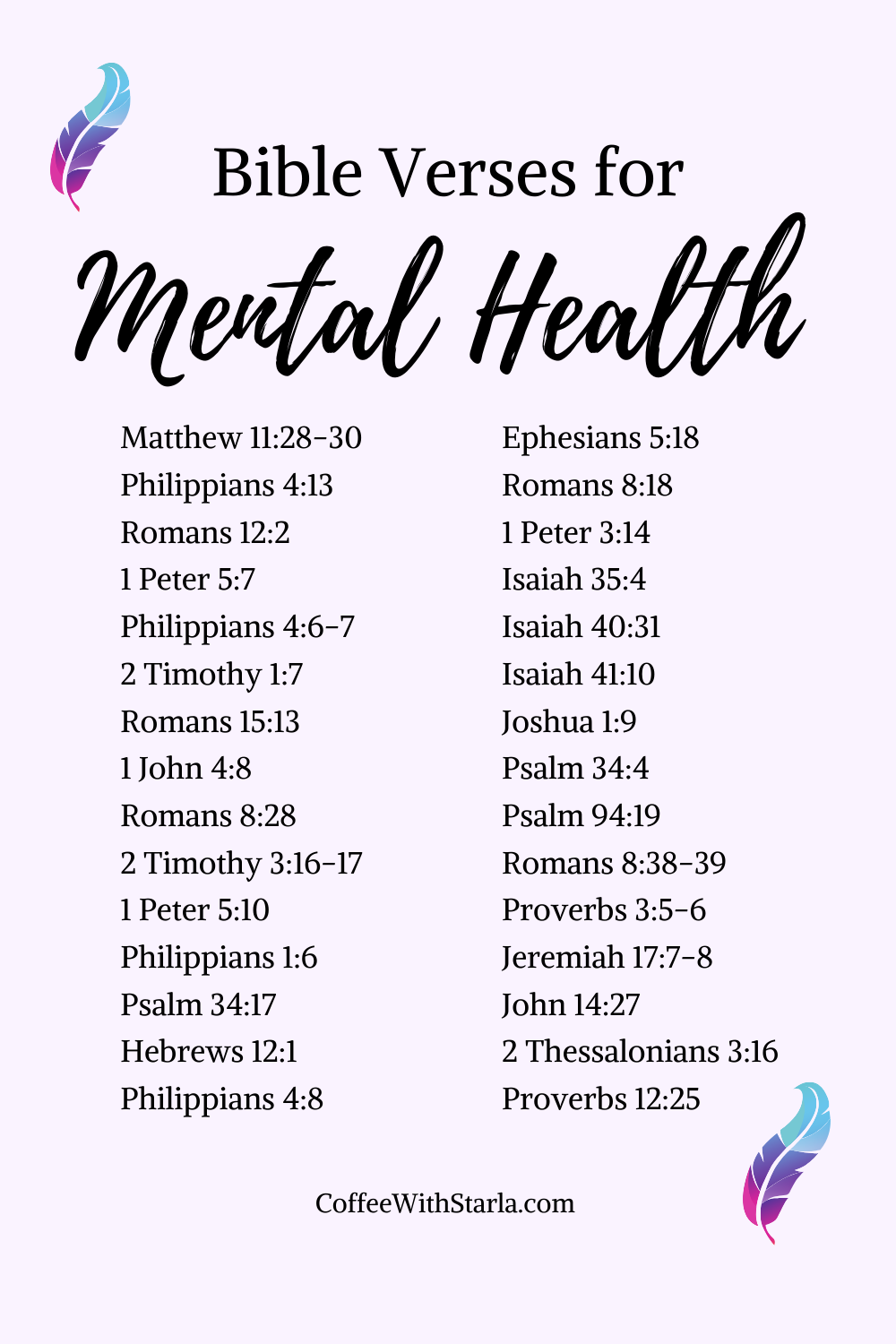 Bible Verses for Mental Health ~ Coffee With Starla