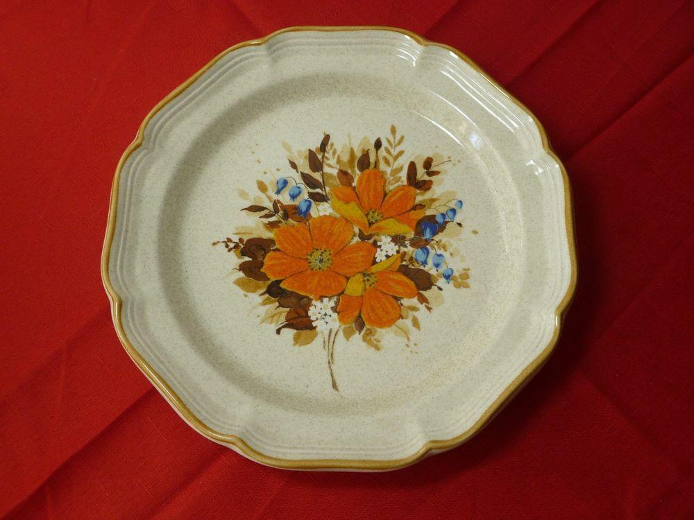 "Mikasa garden club flowerfest EC 452 11"" dinner plate. Lot of 4 #Mikasa"