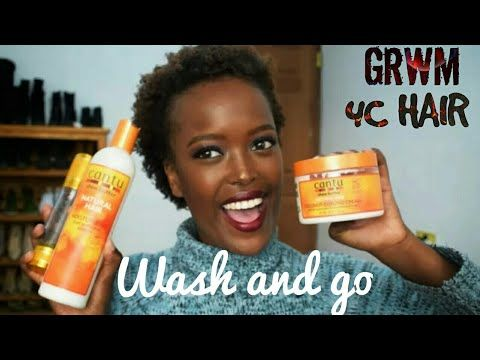 GRWM...WASH AND GO hair routine on type 4C natural hair