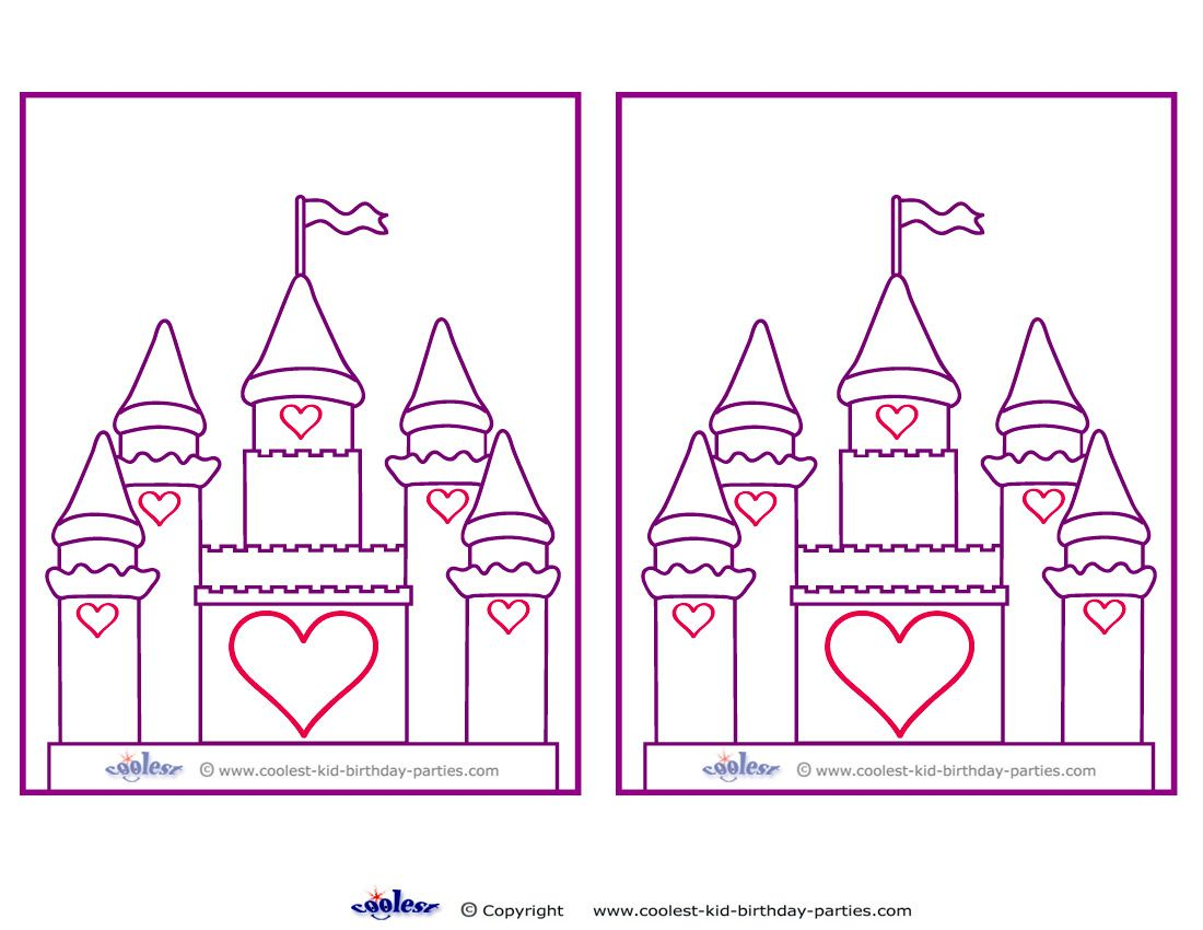 picture about Castle Templates Printable referred to as Blank Printable Castle Invites - Coolest No cost Printables