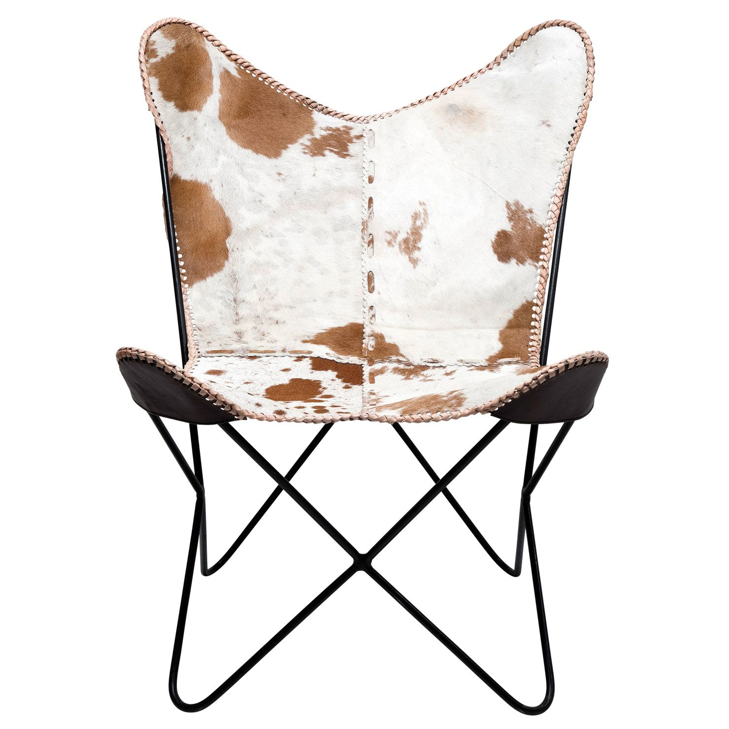 Cowhide butterfly chair - Kare Cowhide Butterfly Armchair
