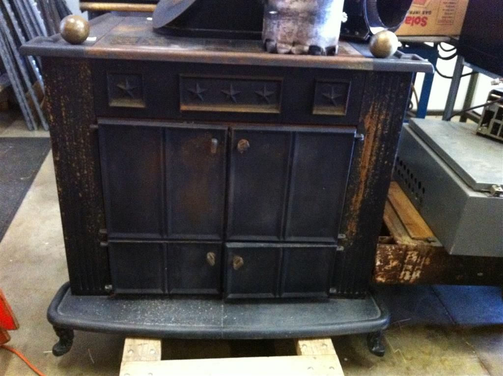 Underwriters Laboratories Fireplace Wood Burning Stove Mod. #907-2026