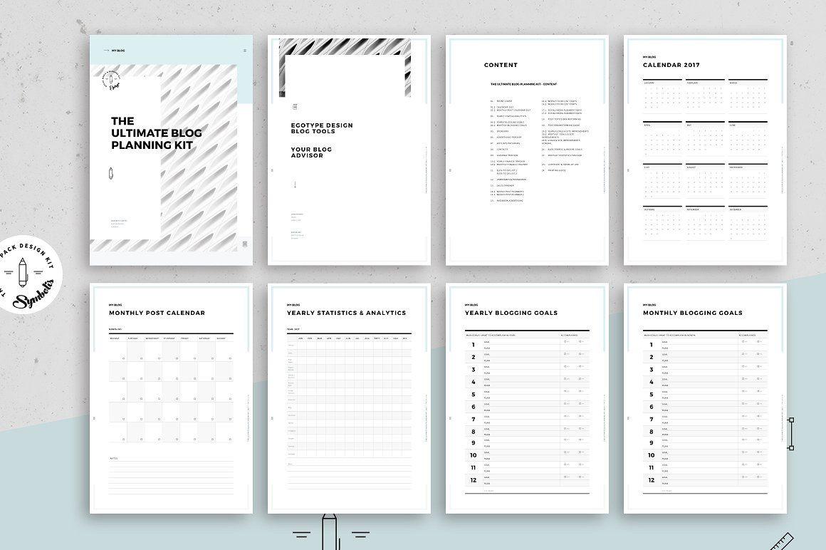 Ultimate Blog Planner Kit FORMATSIZESplanningINCLUDED
