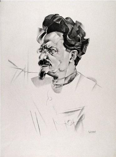 Портрет Троцкого - Юрий Анненков