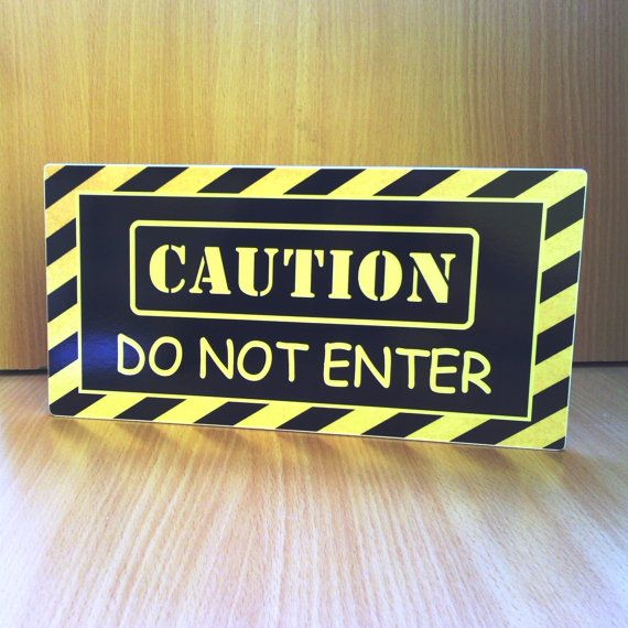 Caution Do Not Enter Kids Door Sign Boys Hideout Warning Sign Yellow And Black P377 Kids Room Gift Kids Door Signs Door Signs Boys Door Signs