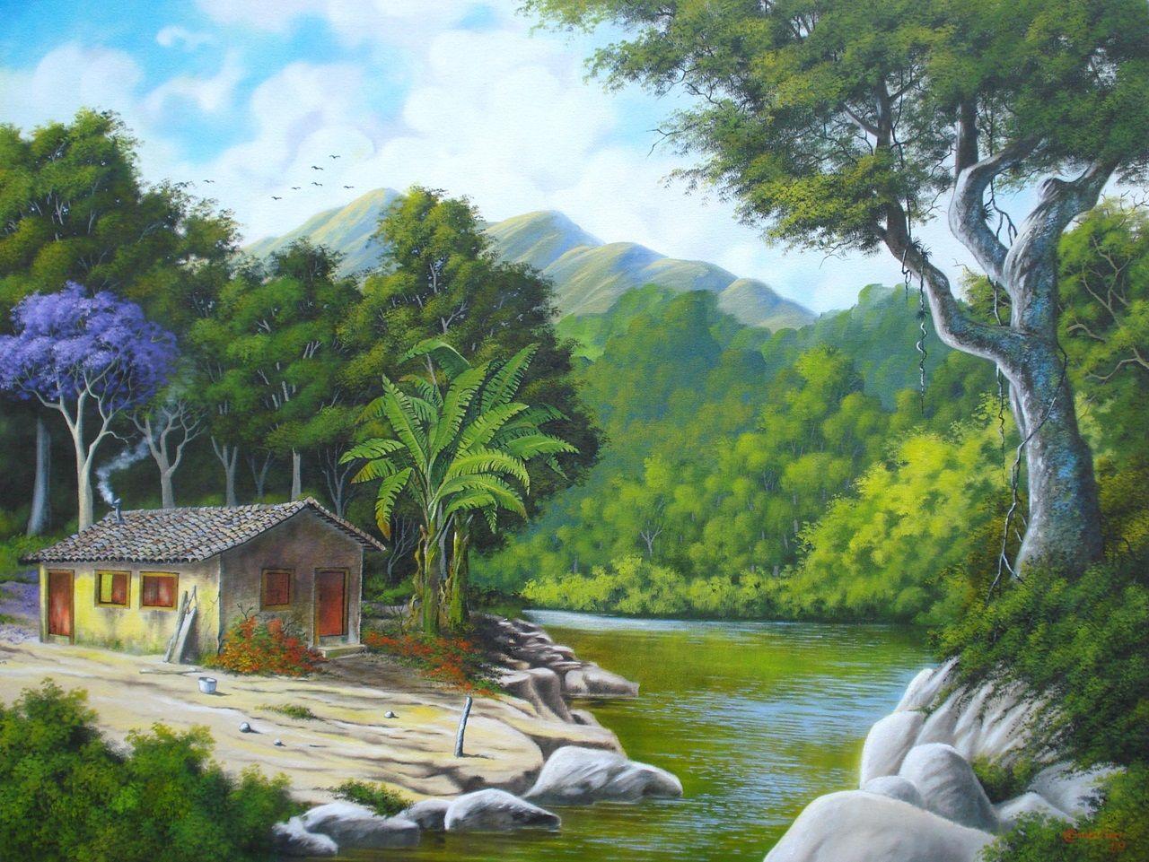 Paisagens para pintar em tela pesquisa google pintura for Papel de pared para pintar