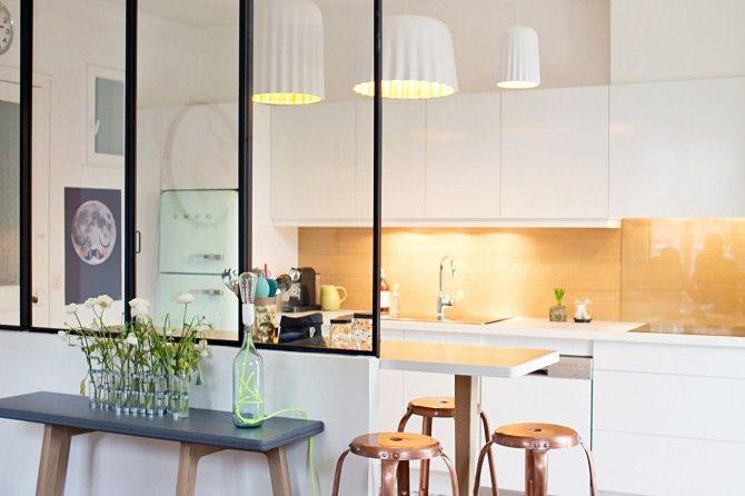 Idée de cloison pour séparer cuisine et salon Intérieur deco