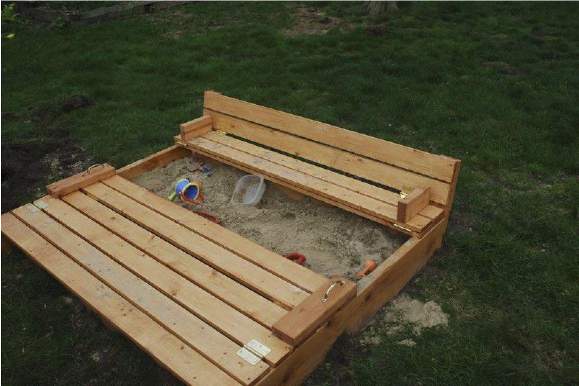 Sandbox With Built In Seats Woodworking Plans Sandkasten Diy