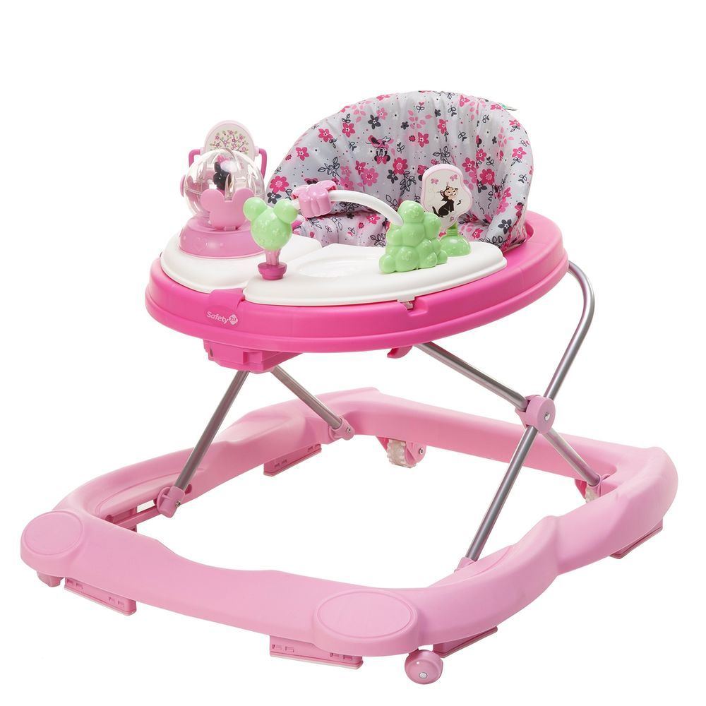 Baby walker with play tray adjustable frame red kite eleflump go