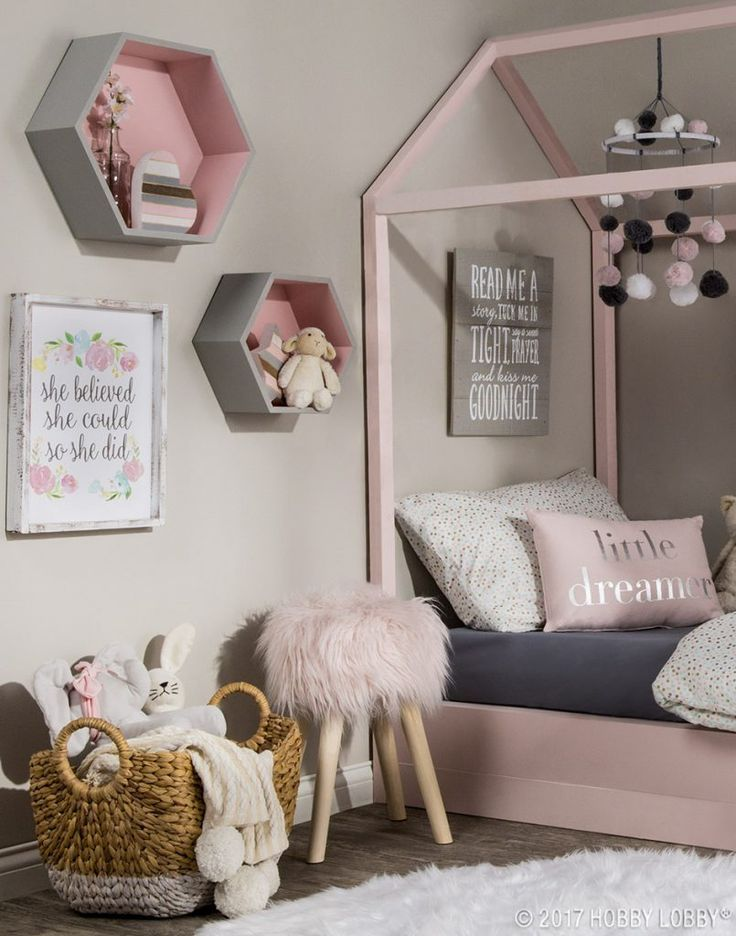 8 Room Decor Ideas For Kids | Pink bedroom decor, Grey wall ...