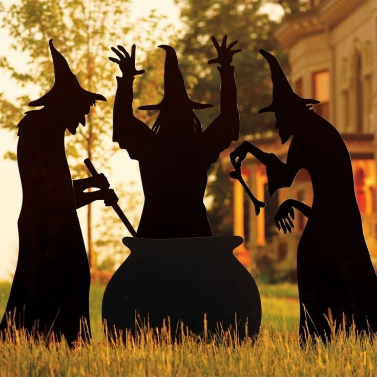 Martha Witch Silhouette Template Living Three Witches Fall In