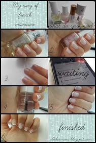 Elleke Emma: Franch manicure.