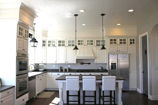 Space Above Kitchen Cabinets Closing the space above kitchen cabinets | The Turquoise Home