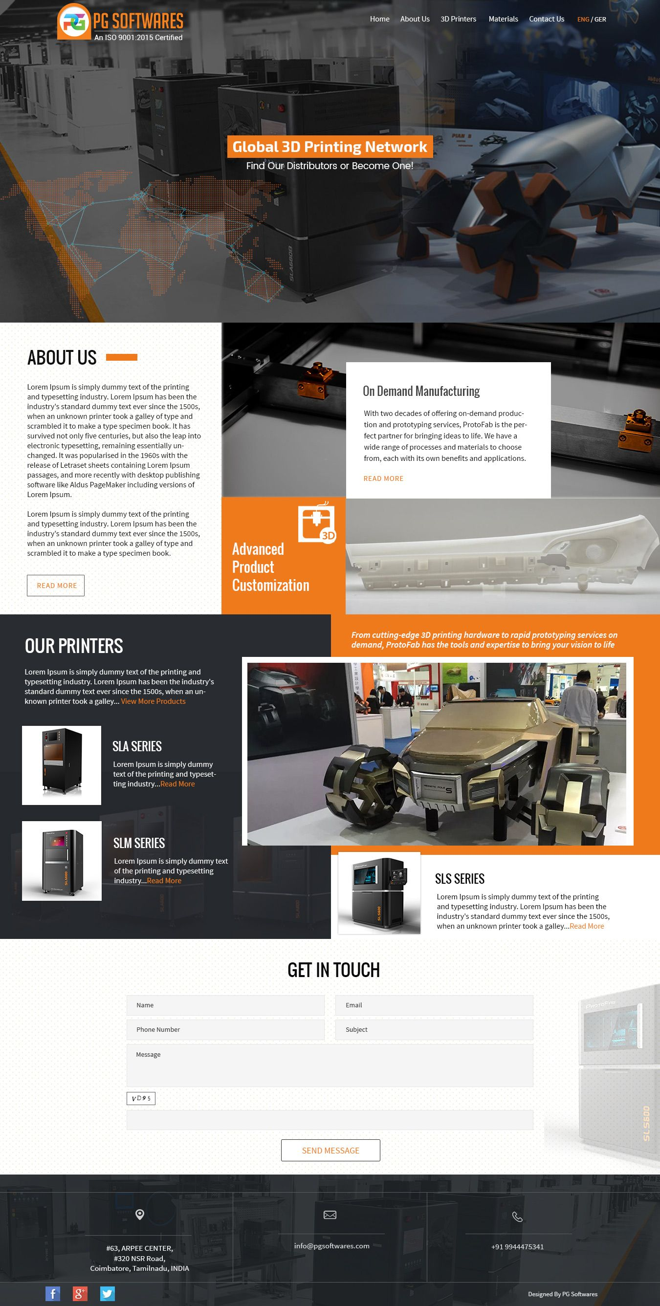3d Printer Manufacturers Company Responsive Website Template Website Manufacturing Template Wordpress In 2020 Web Design Mobile Web Design Corporate Web Design