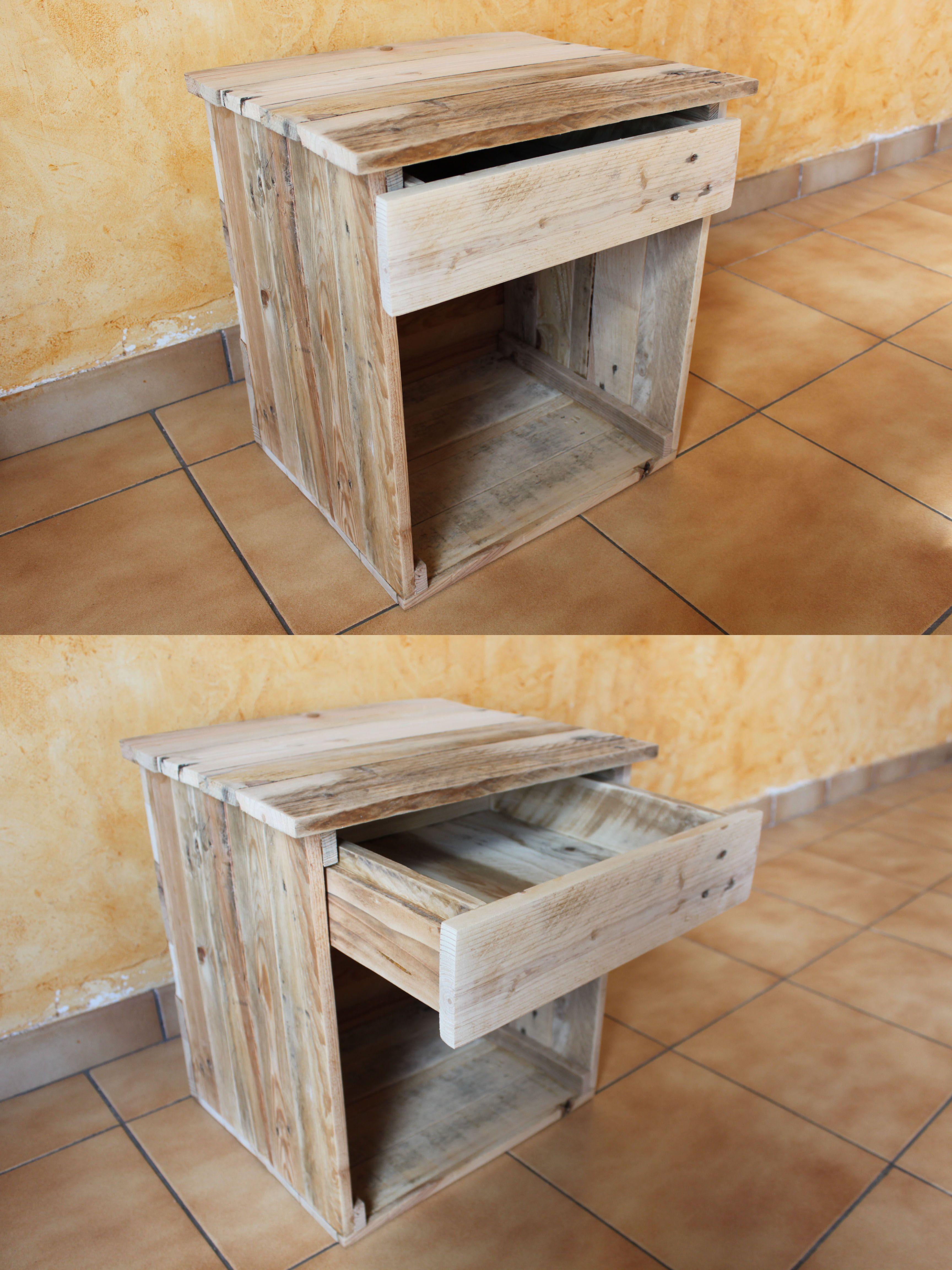 Table De Chevet En Bois De Palettes Et Colle Bois Cest
