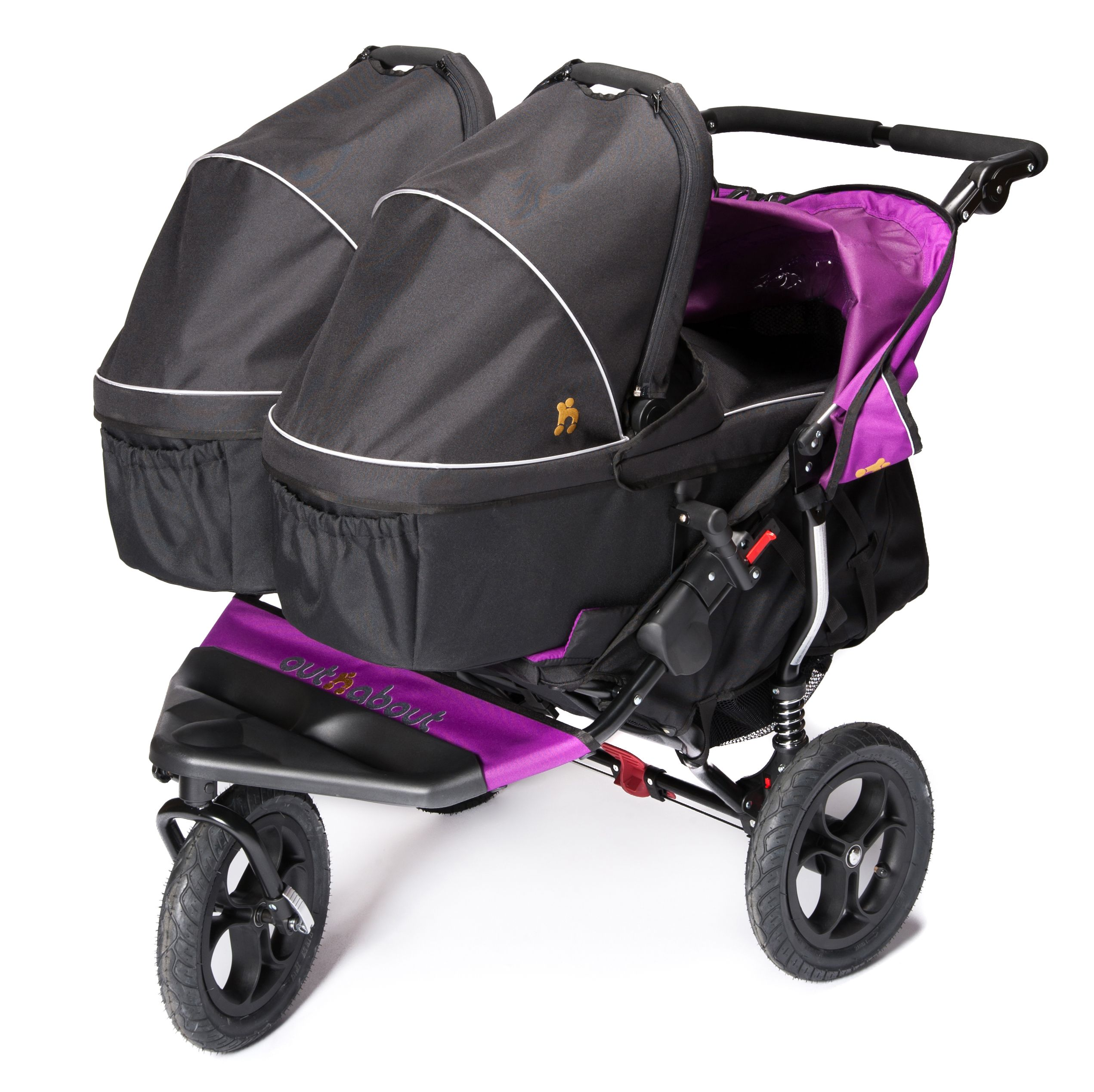 It takes 2 Baby The Nipper Double patible with 2 carrycots Perfect for twins