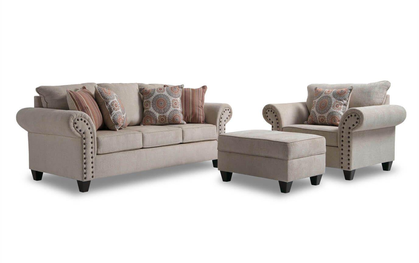 Artisan Sofa Chair Storage Ottoman Bobs Furniture Living Room Loveseat Sofa Chair Storage