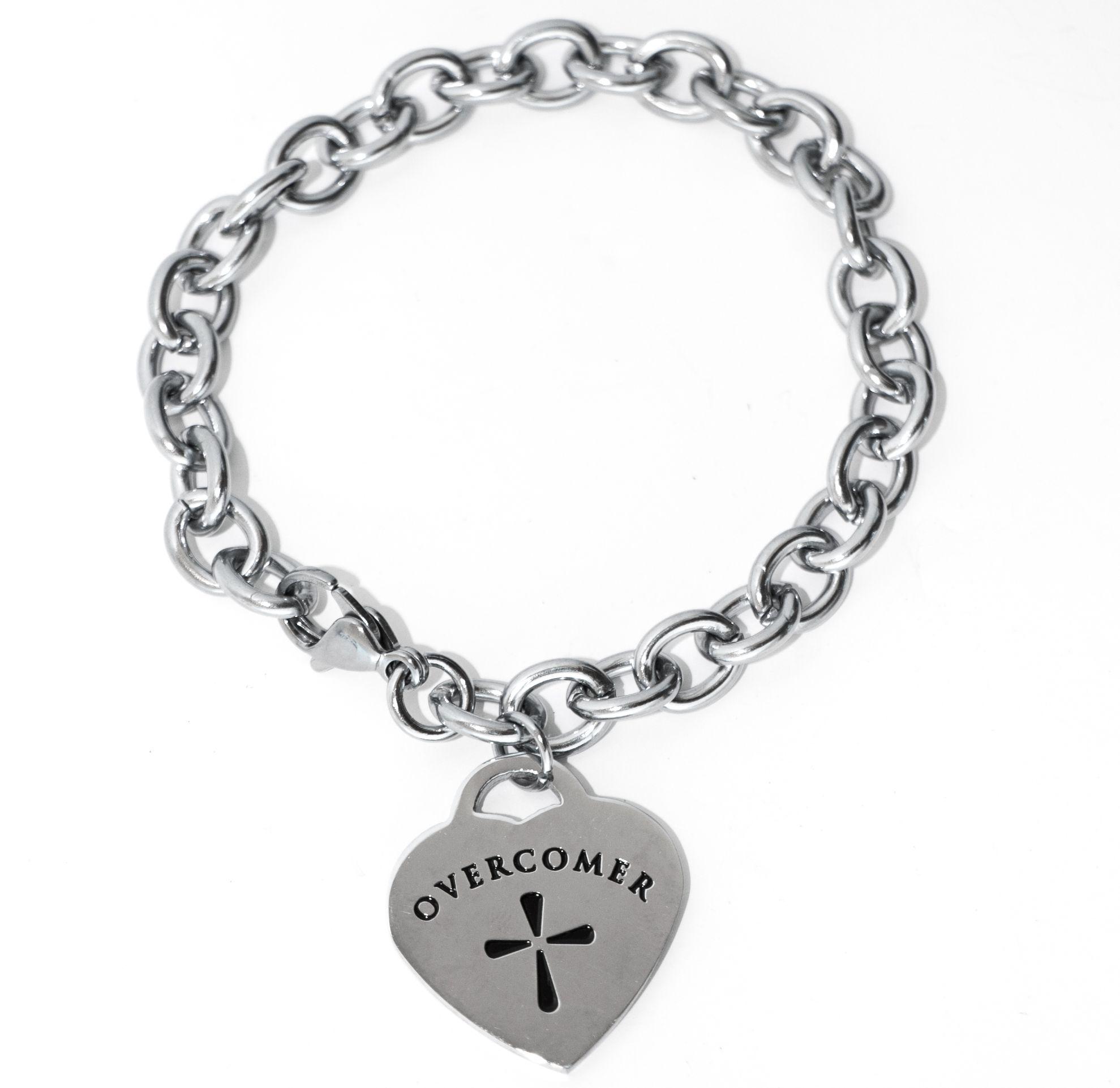 632231477 Overcomer Bracelet - Tiffany Style | Mandisa | Christian bracelets ...